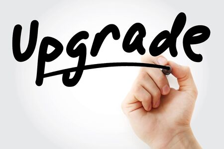 Hand writing Upgrade with marker, concept background Stok Fotoğraf
