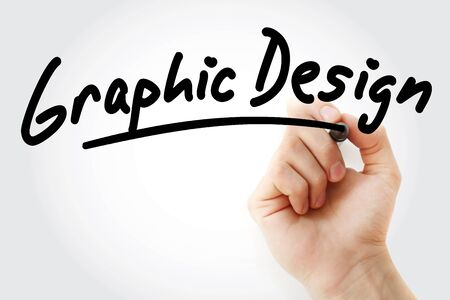 Hand writing Graphic Design with marker, concept background