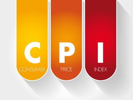 CPI - Consumer Price Index acronym, business concept Ilustracja