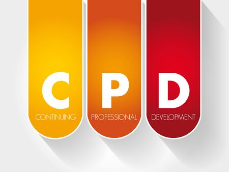 CPD - Continuing Professional Development acronym, business concept