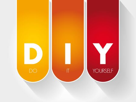 DIY - Do It Yourself acronym, business concept