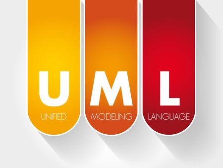 UML - Unified Modeling Language acronym, technology concept