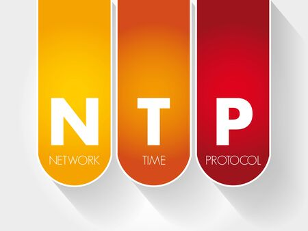 NTP - Network Time Protocol acronym, technology concept