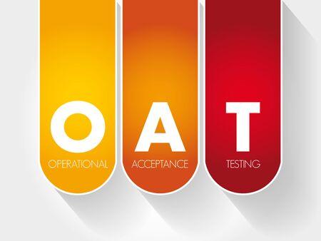 OAT - Operational Acceptance Testing acronym, business concept Archivio Fotografico - 132636038