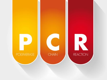 PCR - Polymerase Chain Reaction, acronym, medical concept background 矢量图像