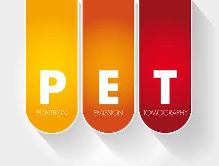 PET - Positron Emission Tomography acronym, medical concept background Vektoros illusztráció