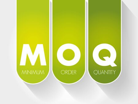 MOQ - Minimum Order Quantity acronym, business concept background 向量圖像