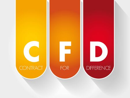 CFD - Contract For Difference acronym, business concept background