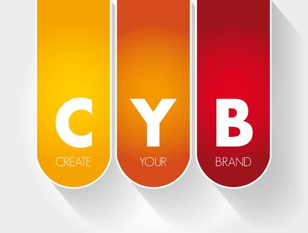 CYB - Create Your Brand acronym, business concept background 版權商用圖片 - 132971583
