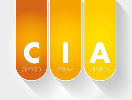 CIA – Certified Internal Auditor acronym, business concept background Banco de Imagens - 133280390