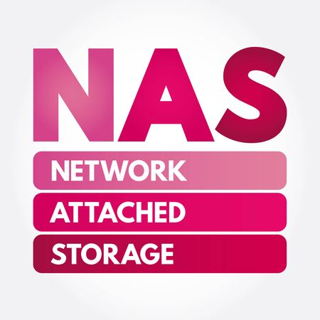 NAS - Network Attached Storage acronym, technology concept 스톡 콘텐츠 - 133190882