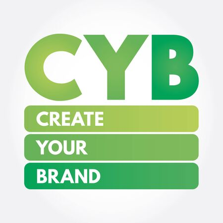 CYB - Create Your Brand acronym, business concept background