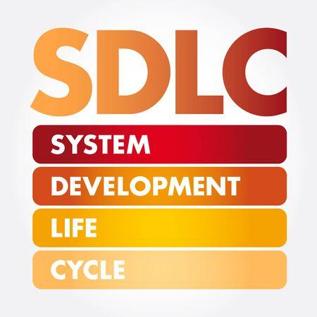 SDLC - System Development Life Cycle acronym, business concept