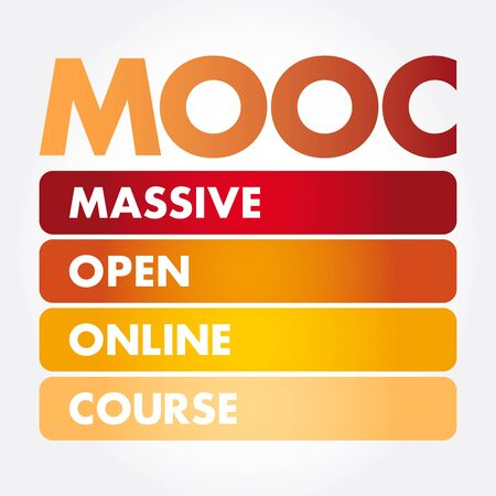 MOOC - Massive Open Online Course acronym, business concept background