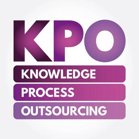 KPO - Knowledge Process Outsourcing acronym, business concept background Ilustração