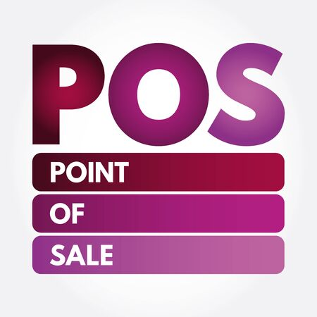 POS - Point of Sale acronym, business concept