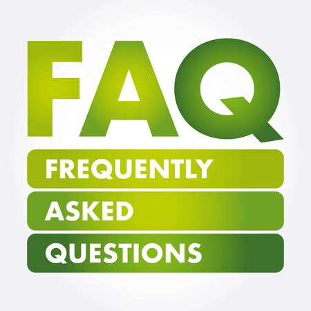 FAQ - Frequently Asked Questions acronym, business concept background Иллюстрация