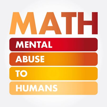 MATH - Mental Abuse To Humans acronym, concept background