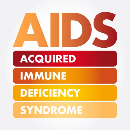AIDS - Acquired Immune Deficiency Syndrome, acronym health concept background