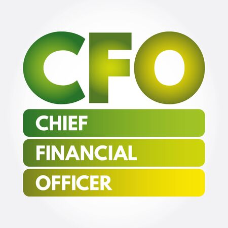 CFO - Chief Financial Officer acronym, business concept