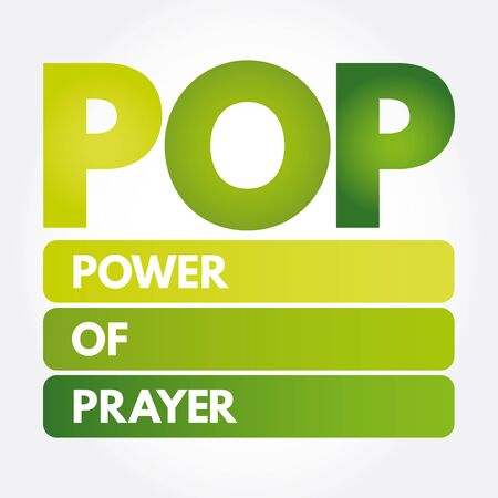 POP - Power Of Prayer acronym, concept background
