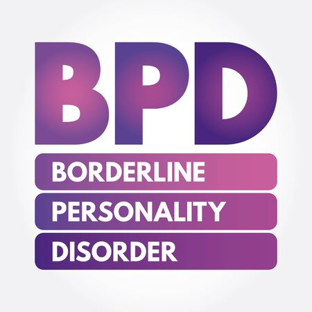 BPD - Borderline Personality Disorder acronym, medical concept background Archivio Fotografico - 133191021