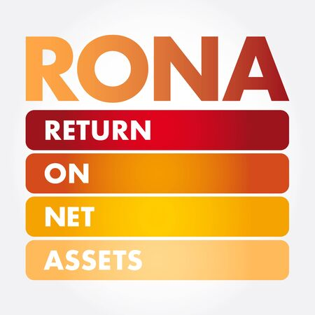 RONA - Return On Net Assets acronym, business concept background