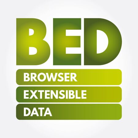 BED - Browser Extensible Data acronym, technology concept background Illusztráció