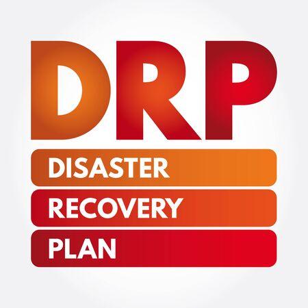 DRP - Acronimo del piano di ripristino di emergenza, concetto aziendale
