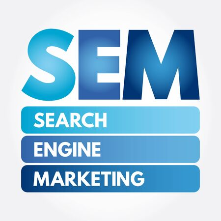 SEM - Search Engine Marketing acronym, business concept background Stok Fotoğraf - 133040263