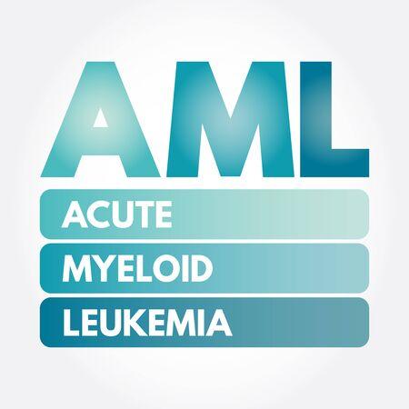 AML - Acute Myeloid Leukemia acronym, medical concept background