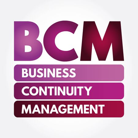 BCM - Business Continuity Management acronym, business concept 스톡 콘텐츠 - 133287257