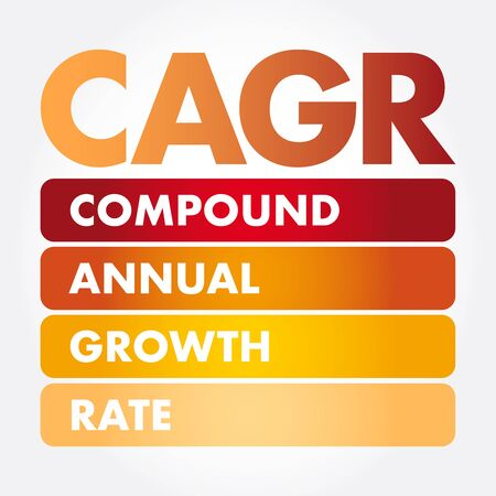 CAGR - Compound Annual Growth Rate acronym, business concept background Иллюстрация
