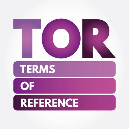 TOR - Terms of Reference acronym, business concept
