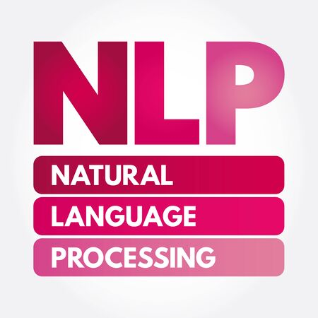 NLP - Neuro Linguistic Programming acronym, medical concept background