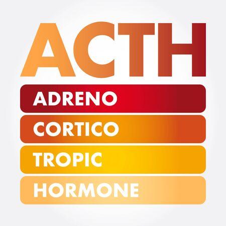 ACTH - Adrenocorticotropic hormone acronym, medical concept background Ilustrace