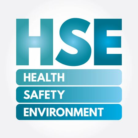 HSE - Health Safety Environment acronym, concept background Ilustracja