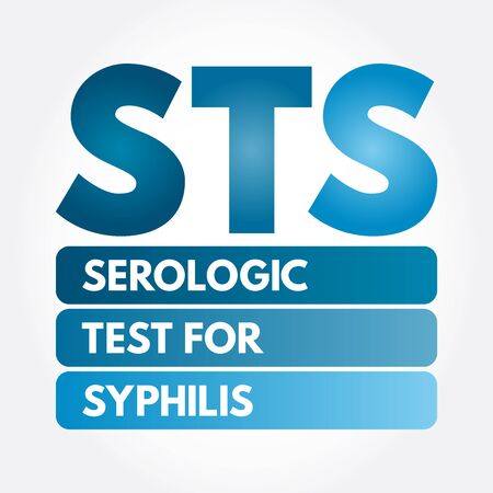 STS - Serologic Test for Syphilis acronym, medical concept background Illusztráció