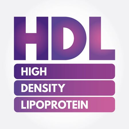 HDL - High-density lipoprotein acronym, medical concept background Ilustrace