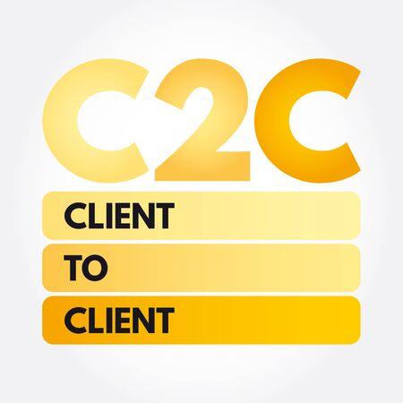 C2C - Client To Client acronym, business concept background Ilustrace