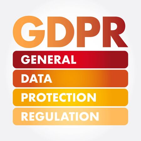 GDPR - General Data Protection Regulation acronym, technology concept background