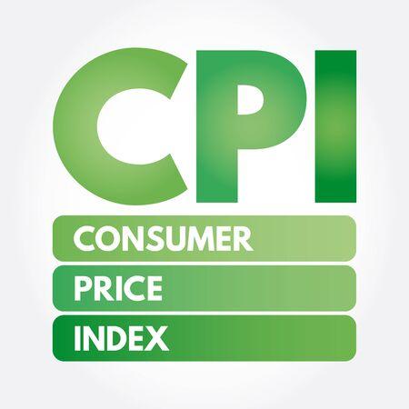 CPI - Consumer Price Index acronym, business concept