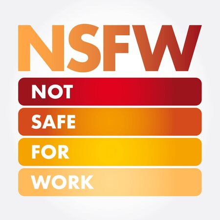 NSFW - Not Safe For Work acronym, business concept background 일러스트