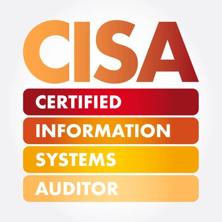 CISA – Certified Information Systems Auditor acronym, business concept backgroun 向量圖像