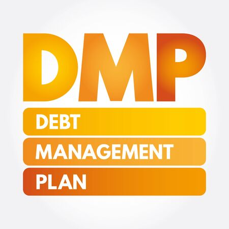 DMP - Debt Management Plan acronym, business concept 스톡 콘텐츠 - 133288026