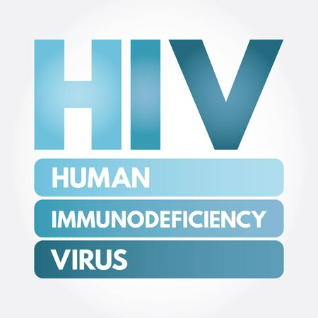 HIV - Human Immunodeficiency Virus acronym, medical concept background