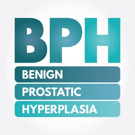 BPH - Benign Prostatic Hyperplasia acronym, medical concept background Illustration