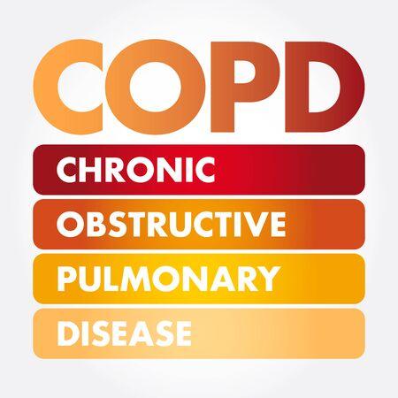 COPD - Chronic Obstructive Pulmonary Disease acronym, medical concept background Иллюстрация