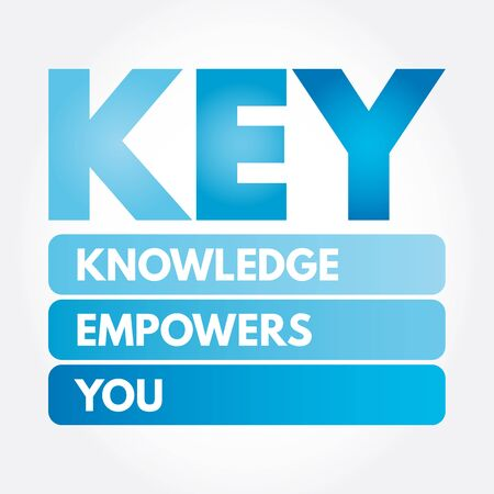 KEY - Knowledge Empowers You acronym, business concept background