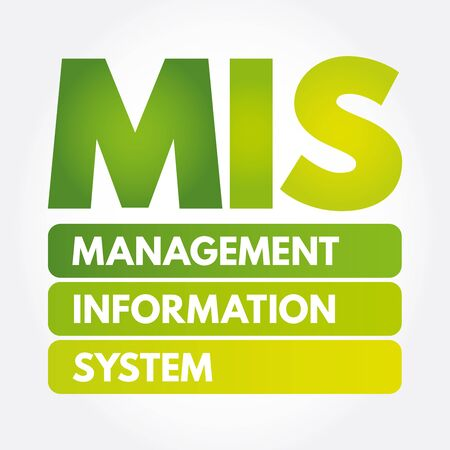 MIS - Management Information System acronym, business concept Иллюстрация